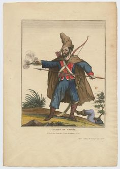 Crimean Cossack. Cosaque de Crimee (1814) Publised by Jean. From the Anne S.K. Brown Military Collection