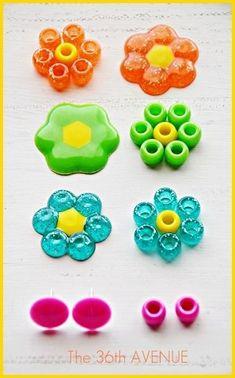 Melt Beads to Make Flowers