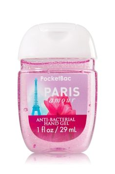 Paris Amour - PocketBac Sanitizing Hand Gel - Bath & Body Works - Now with more happy! NEW PocketBac is perfectly shaped for pockets & purses, making it easy to fight germs on-the-go! Plus, our all-new skin softening formula contains powerful germ-killers that keep your hands clean & soft.