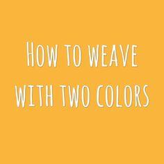 İki renk ip kullanarak nasıl dokuma yapılır? How to weave with two colors? #coccino #handcraftedcuriosities #nasilyapilir #kendinyap