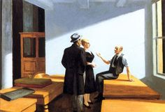 Hopper - conference at night 1949