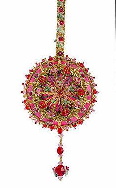 The-Cracker-Box-Pink-Taffeta-Lavendar-Xmas-Ornament-Kit