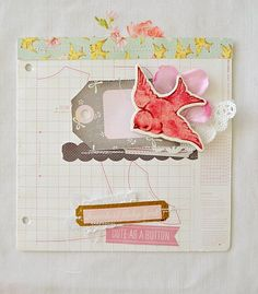 Cute layout inspiration created using our Little Bo Peep Collection. #cratepaper #littlebopeep