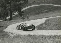 Tom Hawkes, Allard J2, Collingrove Hillclimb, Angaston, Barossa Valley, South Australia 1952. (State Library of SA)...