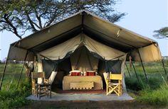 Tente safari à Ubuntu Camp pour un safari authentique. www.trueafrica.fr