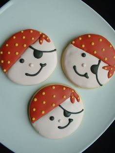 Pirate Cookies - 1 dozen. $36.00, via Etsy.