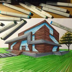 Perfect Saturday activity! . . . #archisketcher #arquitetura #arquitectura #arquitecture #architect #architecture #archilovers #archidaily #arch_cad #arch_more #architectural #designer #iddesign #sketch #sketching #markers #copic #architecturestudent #sketch_arq Architecture Drawing Plan, Architecture Drawing Sketchbooks, Cultural Architecture, Architecture Visualization, Architecture Student, Architecture Design, Architect Drawing, Building Drawing, Id Design
