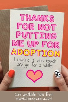 This funny mother's day card from daughter is the perfect gift to let your mum know you love her. This hilarious card is available now from our Etsy store Cheeky Zebra Card Shop or our main website www.cheekyzebra.com. #mothersdaycard #funnymothersdaycard #mothersdaygift #mothersdaygifts