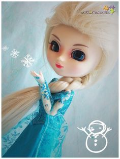 TMW-53 Pullip Doll Synthetic Fiber Frozen Elsa Wig BJD 1/3