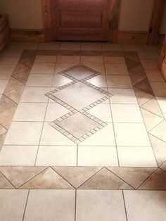 Tiled Foyer traditional entry | Around the house | Pinterest ...