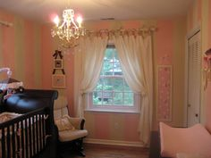 Baby Girl Pink and Brown Nursery, The inspiration from the room came from Brooke Burkes nursery for her third daughter which can be viewed on the website newarrivalsinc.com under celebrity nurseries.  I fell in love with her space especially the Old English Rose Garden bedding and the pink and brown color sceme and modeled our room from that., Nurseries Design