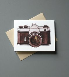 Vintage Camera Cards - Pack of 6  | These lovely blank cards feature an illustration of an old sch... | Greeting Cards