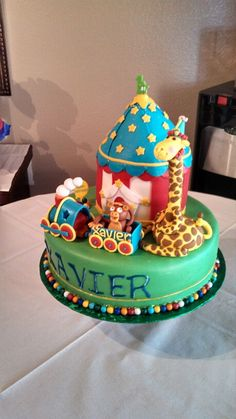 Circus themed party cake