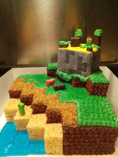 A Minecraft cake!