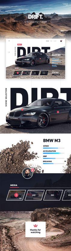 Car concept website https://dribbble.com/shots/3560699-Car-concept-website