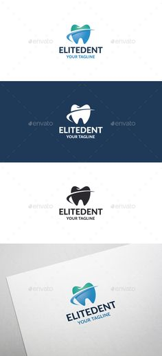 Elite Dent Logo by flatos Description This logo can be used by dental clinic, dental practice, dental forum, dentist, etc.Whats included?100% vector AI and