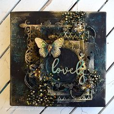 What do you do with your leftovers from chipboards? I have used them on my canvas.  I have also used stencils, beads and lot of fun. ...