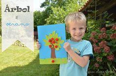 Manualidades niños: Árbol de verano / www.elenarte.es