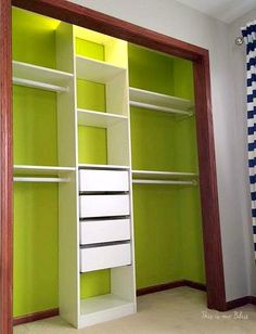 IKEA PAX closet system - Can't Miss LIme - valspar paint - DIY nursery closet - navy green gray - This is our Bliss Ikea Pax Closet, Ikea Closet Organizer, Nursery Closet Organization, Closet Doors, Baby Nursery Diy, Baby Boy Rooms, Baby Boy Nurseries, Diy Baby, Nursery Ideas