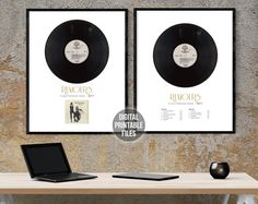 Rumours LP Vinyl Record — Set of 2 Custom Printable Digital Posters Fleetwood Mac, Lp Vinyl, Vinyl Records, Patent Drawing, Somebody To Love, Sound Waves, How To Make Notes, Frame It, Cover Photos