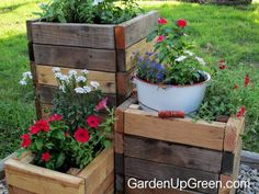 Reclaimed Wood DIY Planter Boxes