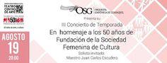 AUG 19 Iii Concierto De Temporada De La OSG