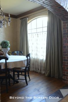 Dining Room Window Treatment And New Paint Color