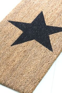 Door mat from Bloomingville How To Make Paint, A Star Is Born, Twinkle Twinkle Little Star, Love Stars, Painted Doors, Rugs On Carpet, Ikea, Crafty, Star Rug