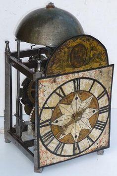 17th century Italian iron chamber clock