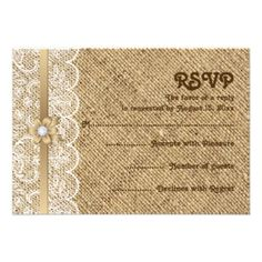 Burlap And Lace Chic Weddings | Romantic, rustic chic white lace and burlap: A popular wedding trend ...