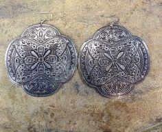 Intricate Patterned Arabian Metal Earrings