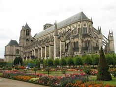 by Milly4 on Flickr.  Cathédrale Saint-Étienne de Bourges is a Roman Catholic cathedral, dedicated to Saint Stephen, located in Bourges, France.