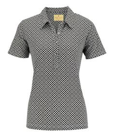 This Black Haley Cool Short-Sleeve Polo - Women by Sport Haley is perfect! #zulilyfinds