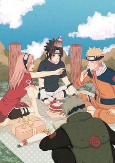 「Happy Birthday to Sasuke!」/「MAKI」の漫画 [pixiv] #sasuke #team7 #naruto