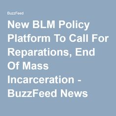New BLM Policy Platform To Call For Reparations, End Of Mass Incarceration - BuzzFeed News