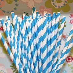 Striped straws.