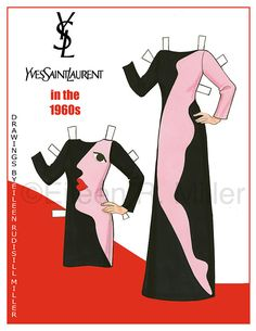 Yves Saint Laurent in the 60's Paper Doll