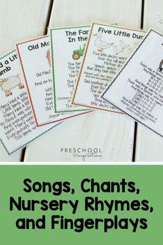 Songs, Chants, Nursery Rhymes, and Fingerplays with Song Sticks Preschool Circle Time Songs, Fun Songs For Kids, Preschool Songs, Preschool Science, Preschool Learning, Preschool Activities, Teaching, Preschool Weather, Preschool Classroom