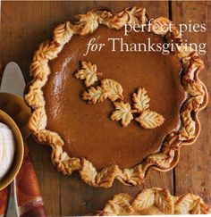 Beautiful pumpkin pie (decor idea only)                              …