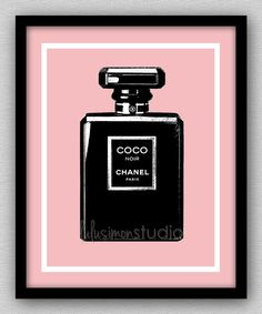 8 x 10 Wall Decor Print, Modern Home Decor, Chanel, Chanel Home Decor, Chanel Art-COCO Noir Perfume Bottle on Etsy, $15.00