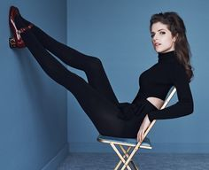 Anna Kendrick poses in black looks from fashion's pre-fall 2016 collections