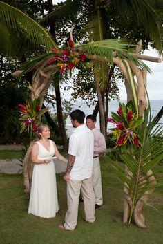 Tropical Driftwood Wedding Arbor, Ylang Ylang Beach Resort, Montezuma, Costa Rica