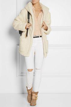 MAJE Girofard hooded faux shearling coat £319.38 http://www.net-a-porter.com/products/523487