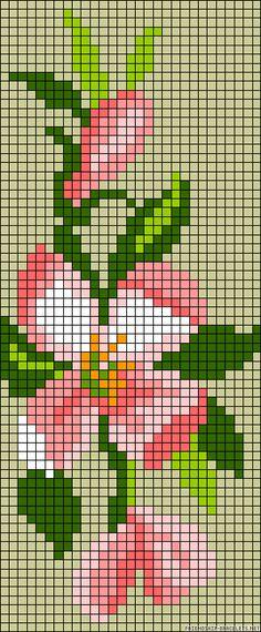 pretty flower loom pattern