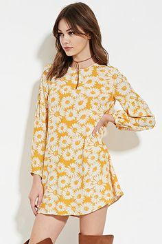 Floral-Print Shift Dress   Forever 21 - 2000169269