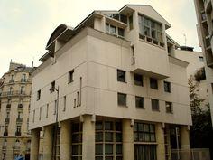 Conservatoire de Musique Erik Satie and sheltered housing (Christian de Portzamparc 1981-84), rue de I'Universite 135, and rue Jean-Nicot 7,  Paris, France