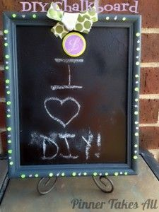 DIY Chalkboard Gift upcycling an old picture frame. #crafts #diygifts