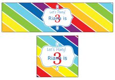 Custom Rainbow Party Labels from Bottle Your Brand
