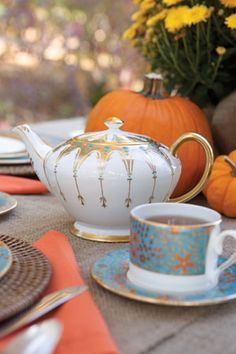 ♥•✿•♥•✿ڿڰۣ•♥•✿•♥ ♥   Pumpkin Patch Tea  ♥•✿•♥•✿ڿڰۣ•♥•✿•♥ ♥