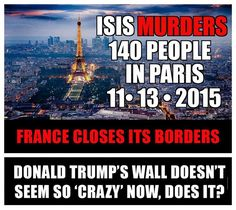 Boarder walls and profiling  Reduce terror attacks!